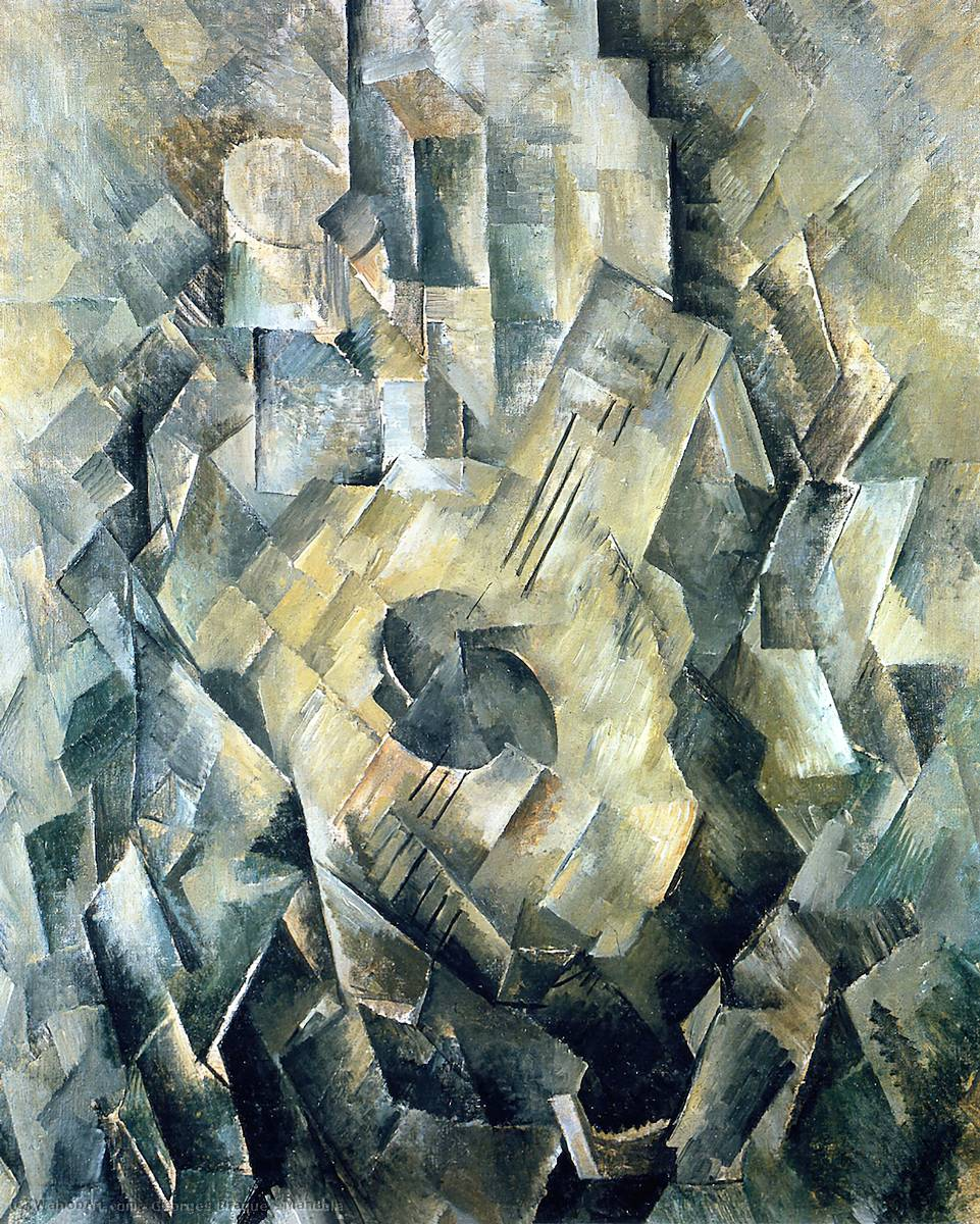 Mandola, 1910 by Georges Braque (1882-1963, France) | Oil Painting | WahooArt.com