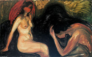 Edvard Munch - Man and Woman