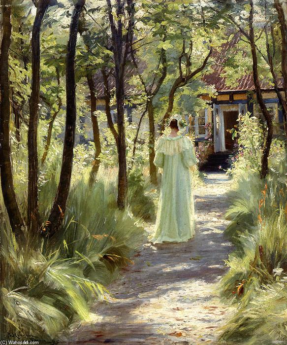 Marie in the Garden, 1895 by Peder Severin Kroyer (1851-1909, Norway) | Museum Quality Reproductions | WahooArt.com