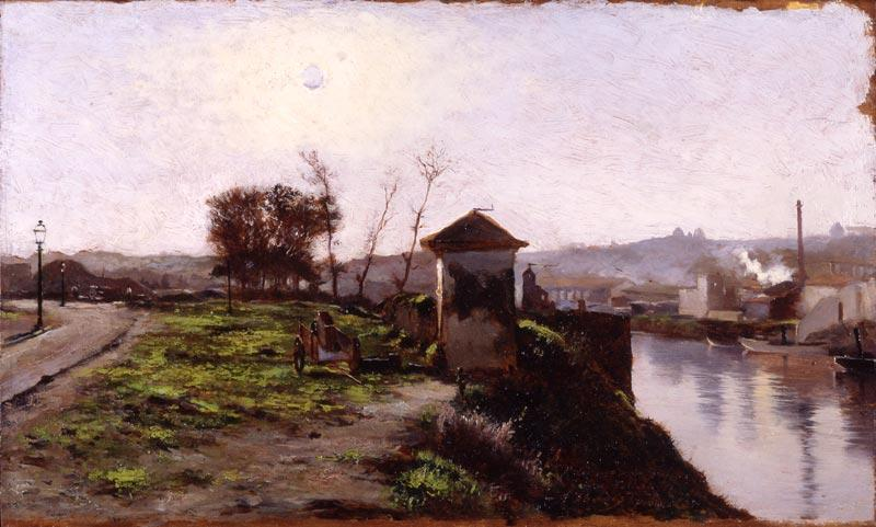 Marina by Juan Martinez Abades (1862-1920, Spain) | Paintings Reproductions Juan Martinez Abades | WahooArt.com