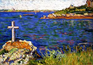 Paul Signac - The Mariner-s Cross at High Tide, Saint-Briac