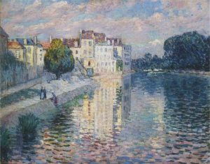 Henri Lebasque - The Marne at Lagny