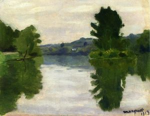 Albert Marquet - The Marne at the Park Saint-Maur