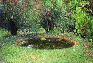 Henri Jean Guillaume Martin - Marquayrol, Basin with Thujas
