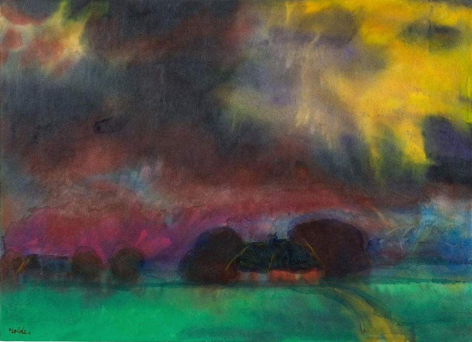Marsh Landscape with Farmhouse, 1920 by Emile Nolde (1867-1956, Germany) | Museum Quality Reproductions | WahooArt.com