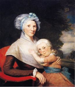 Ralph Earl - Martha Tennent Rogers (Mrs. David Rogers) and Her Son, probably Samuel Henry Rogers