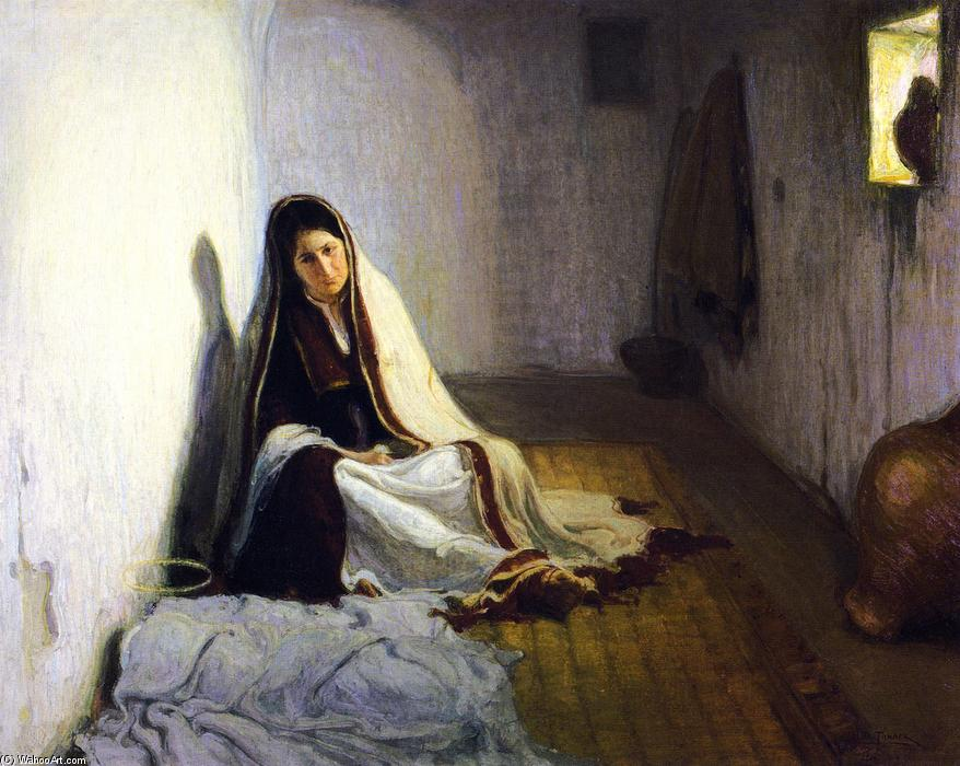 Mary, 1900 by Henry Ossawa Tanner (1859-1937, United States) | Painting Copy | WahooArt.com