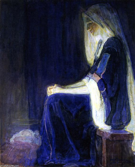 Mary, 1910 by Henry Ossawa Tanner (1859-1937, United States) | Famous Paintings Reproductions | WahooArt.com