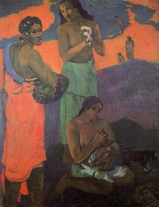Paul Gauguin - Maternity (also known as Three Woman on the Seashore)