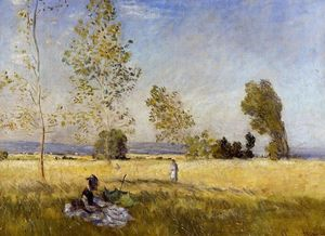 Claude Monet - Meadow at Bezons
