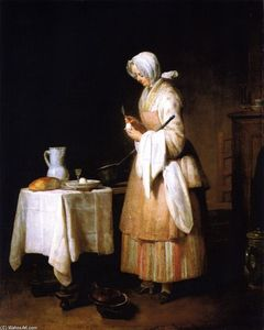 Jean-Baptiste Simeon Chardin - Meal for a Convalescent (also known as The Attractive Nurse)