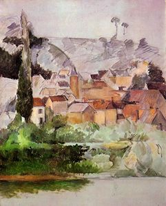 Paul Cezanne - Medan: Chateau and Village