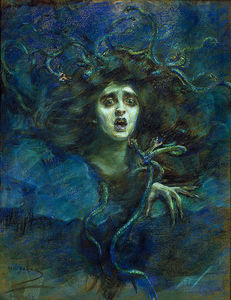 Alice Pike Barney - Medusa (also known as Laura Dreyfus Barney)