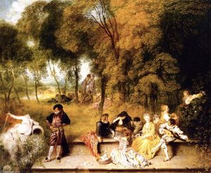 Jean Antoine Watteau - Meeting in the Open Air