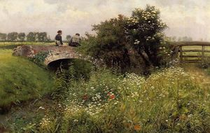 Emil Claus - A Meeting on the Bridge