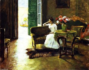 William Merritt Chase - A Memory: In the Italian Villa