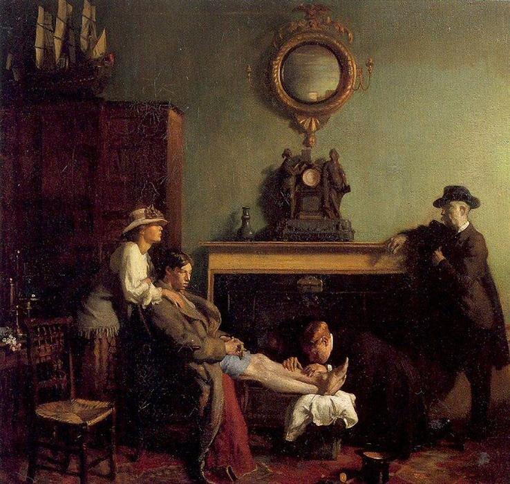 A Mere Fracture, 1901 by William Newenham Montague Orpen (1878-1931, Ireland) | Museum Quality Reproductions | WahooArt.com