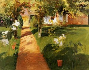 John Singer Sargent - Millet's Garden (also known as The Millet House and Garden)