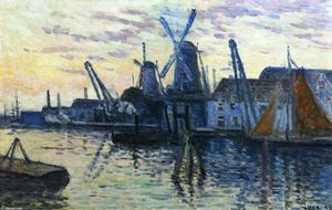 Maximilien Luce - Mills in Holland