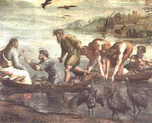 Raphael (Raffaello Sanzio Da Urbino) - The Miraculous Draught of Fishes