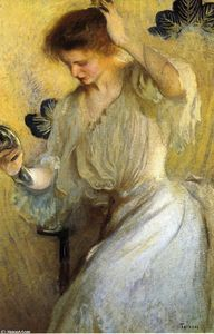Edmund Charles Tarbell - The Mirror (also known as Girl with a Mirror)