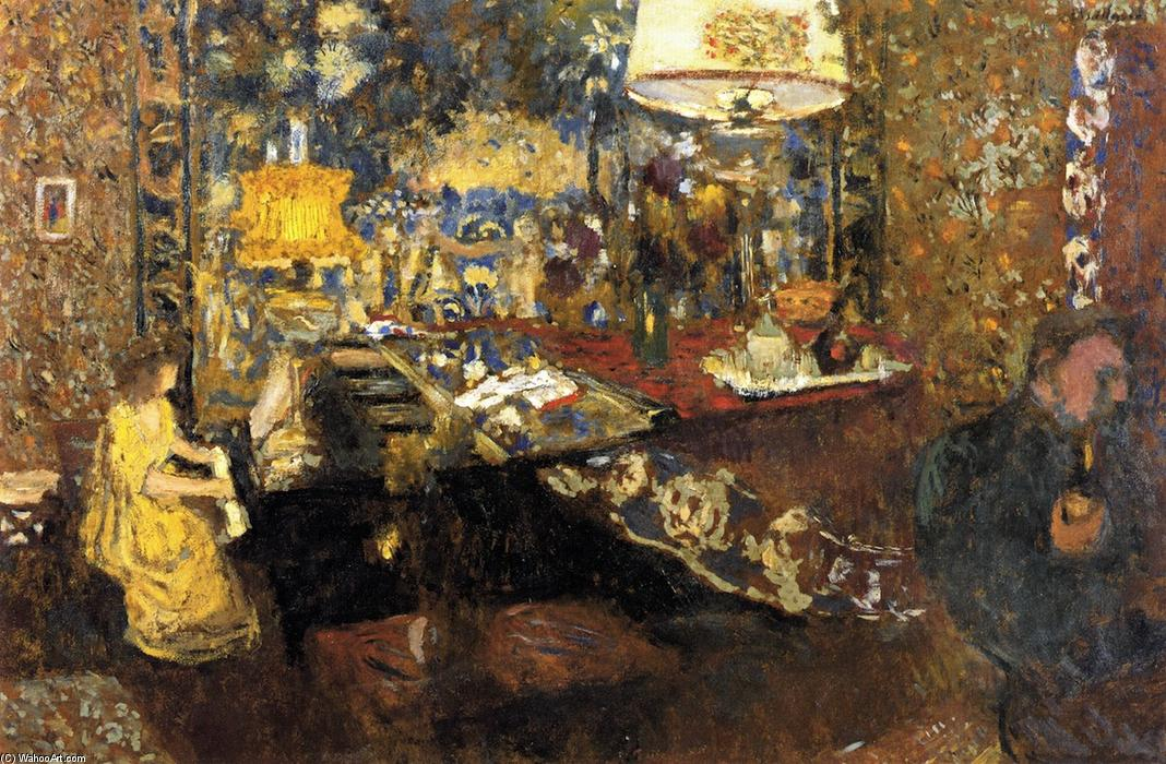 Misia at the Piano, Oil On Panel by Jean Edouard Vuillard (1868-1940, France)