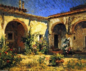 Colin Campbell Cooper - Mission Courtyard (San Juan Capistrano)