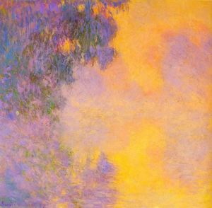Claude Monet - Misty morning on the Seine sunrise