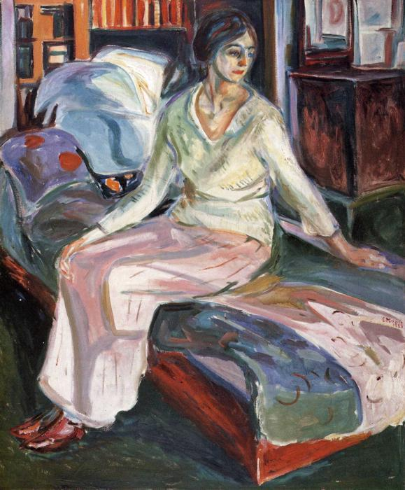 Model on the Couch, Oil On Canvas by Edvard Munch (1863-1944, Sweden)