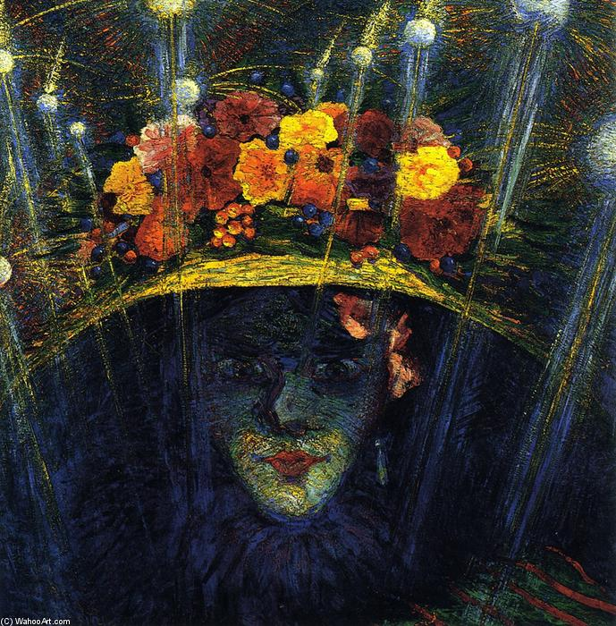 Modern Idol, Oil On Panel by Umberto Boccioni (1882-1916, Italy)