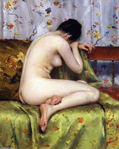 William Merritt Chase - A Modern Magdalen (also known as Nude inan Interior)