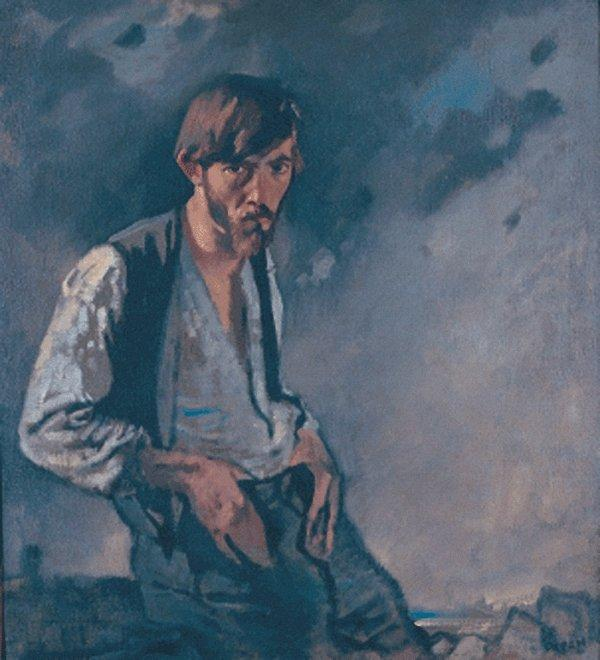 Man of the West by William Newenham Montague Orpen (1878-1931, Ireland) | Oil Painting | WahooArt.com