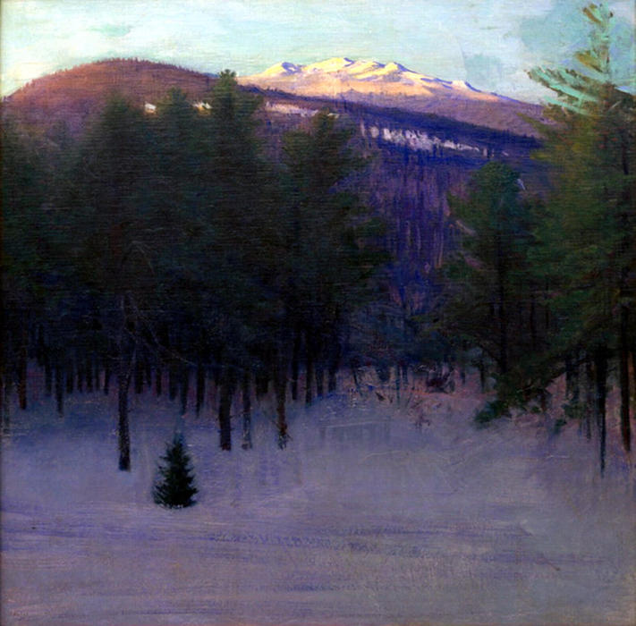 Monadnock in Winter, Oil On Canvas by Abbott Handerson ...
