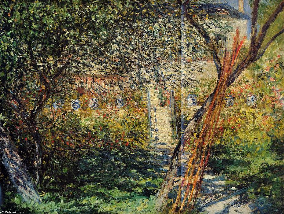 Monet's Garden at Vetheuil, Oil On Canvas by Claude Monet (1840-1926, France)