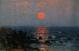 John Joseph Enneking - Moonlight on the Ocean