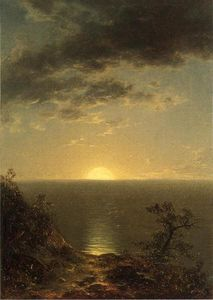 John William Casilear - Moonrise on the Coast