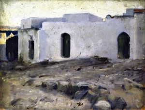 John Singer Sargent - Moorish Buildings on a Cloudy Day (also known as Moorish House on Cloudy Day)