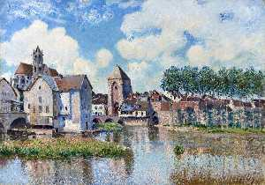 Alfred Sisley - Moret-sur-Loing - (paintings reproductions)