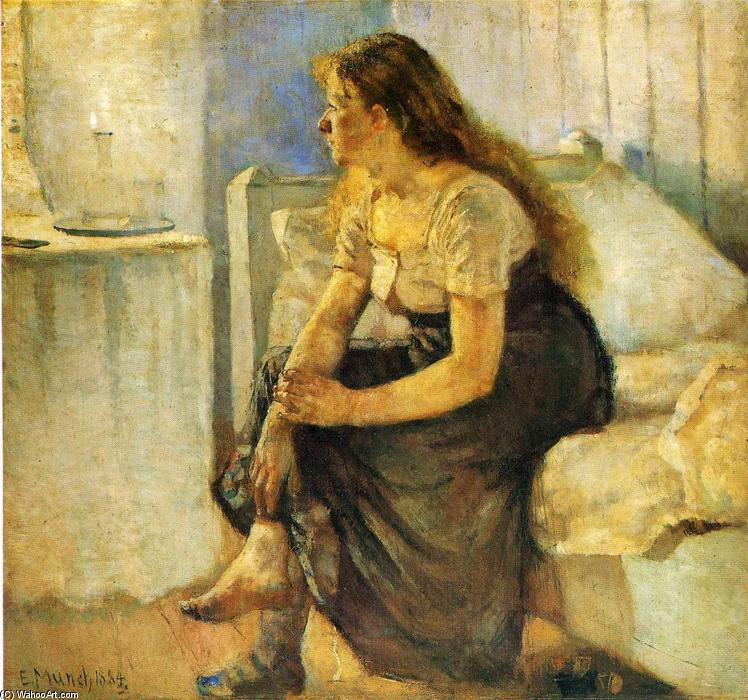 Morning, 1884 by Edvard Munch (1863-1944, Sweden) | Famous Paintings Reproductions | WahooArt.com