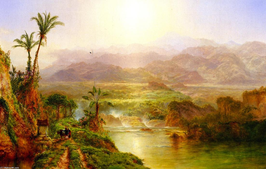 Morning in the Andes, 1863 by Louis Remy Mignot (1831-1870, United States) | WahooArt.com