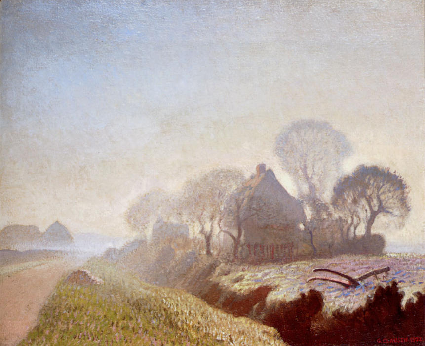 Morning In November, 1922 by George Clausen (1852-1944, United Kingdom) | Famous Paintings Reproductions | WahooArt.com