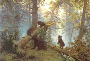 Ivan Ivanovich Shishkin - Morning in piny wood
