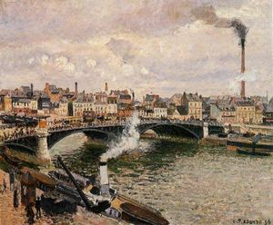 Camille Pissarro - Morning, Overcast Day, Rouen