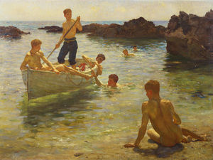 Henry Scott Tuke - Morning splendour