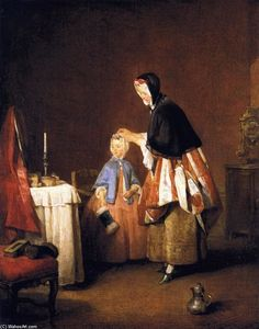 Jean-Baptiste Simeon Chardin - The morning toilet