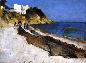 John Singer Sargent - Moroccan Beach Scene (also known as The Coast of Algiers)