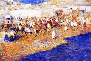Theo Van Rysselberghe - Moroccan Market (also known as Morocco [The Great Souq])