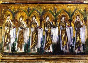 John Singer Sargent - Mosaics in Sant'Apollinare Nuovo