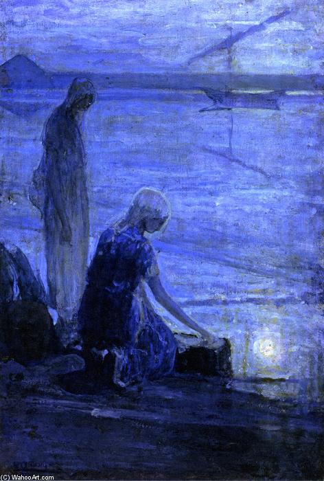 Moses in the Bullrushes, 1921 by Henry Ossawa Tanner (1859-1937, United States) | Art Reproduction | WahooArt.com