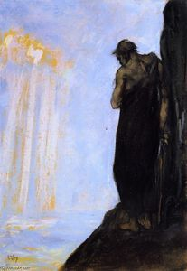 Lesser Ury - Moses on Mount Nebo Looking at the Promised Land